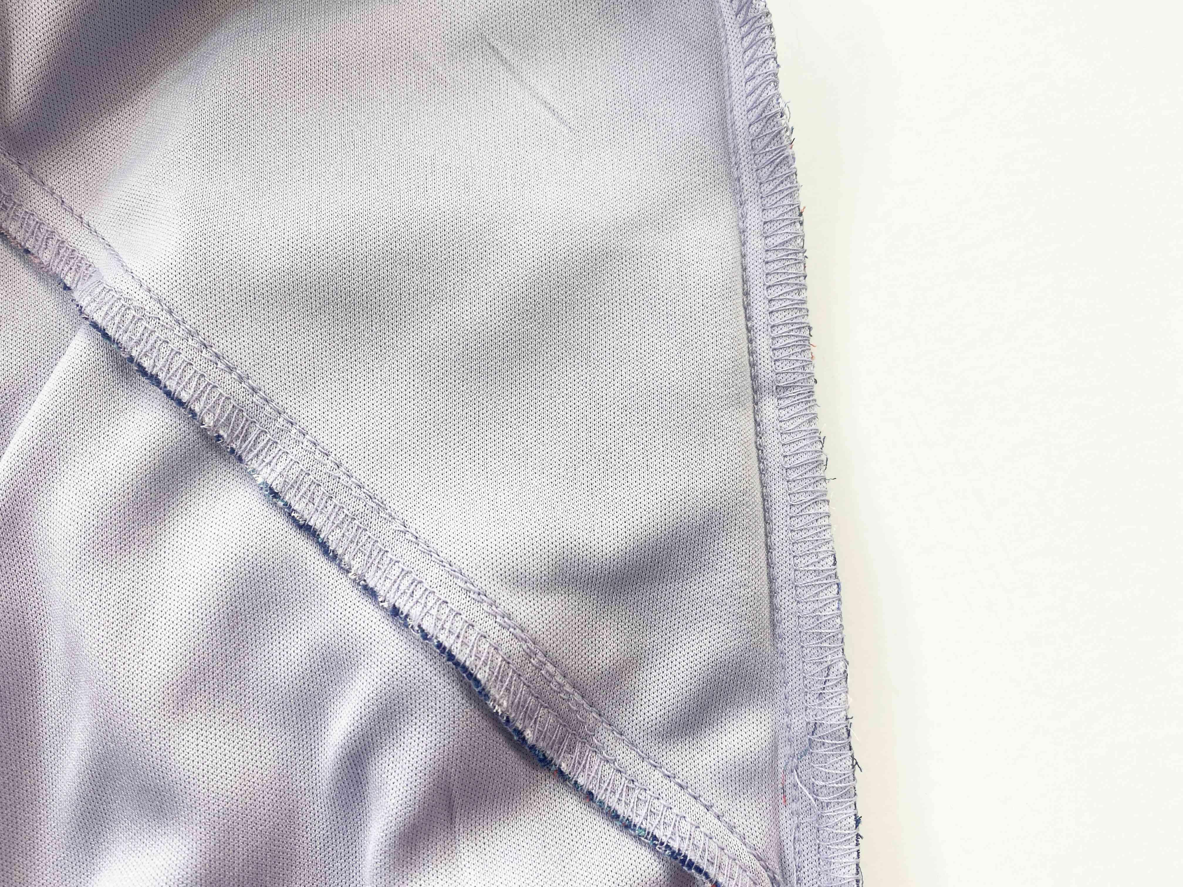 Close-up of a dress seam