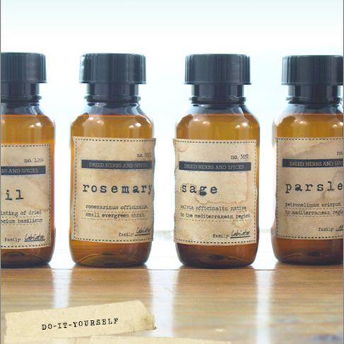 Small Medicine Bottles With Vintage Labels