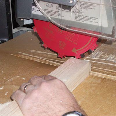 Cutting the Tenon