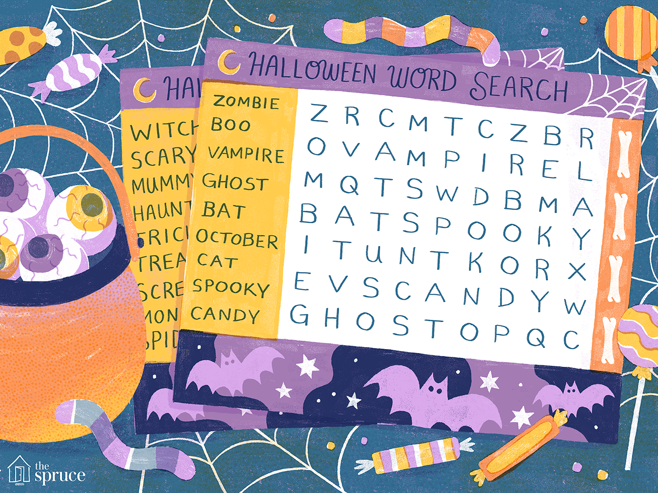 48 Free Halloween Word Search Puzzles