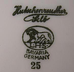 L. Hutschenruether Porcelain Factory Mark