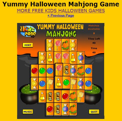 a mahjong halloween themed game