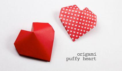 Origami Puffy Heart
