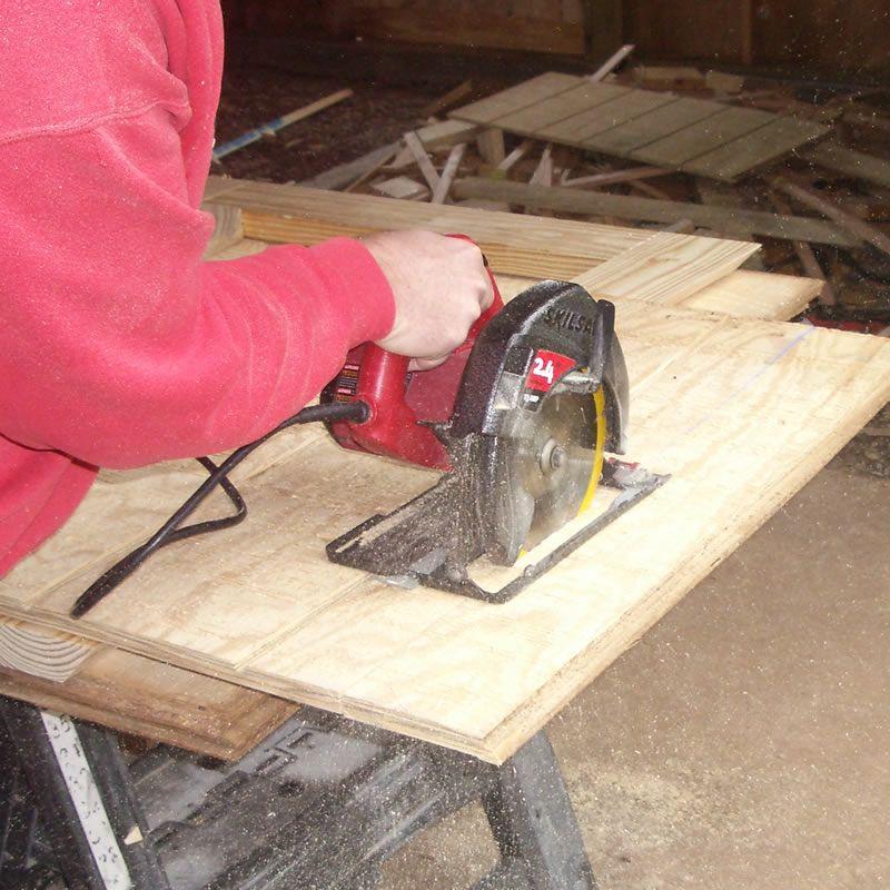 Cutting the T-111 siding