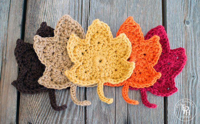 Classic autumn leaves crochet