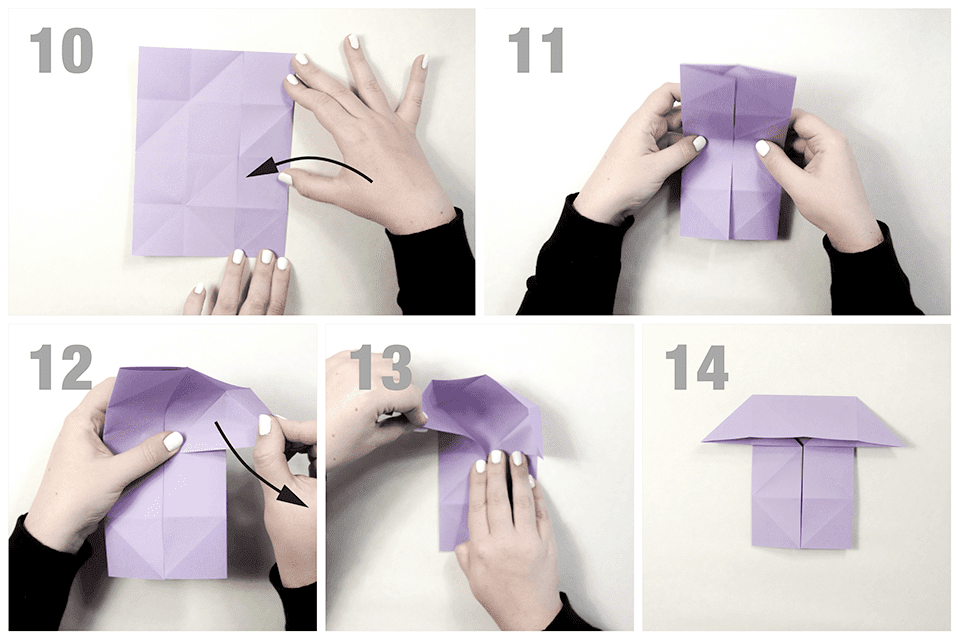 Making the flaps for an origami butterfly