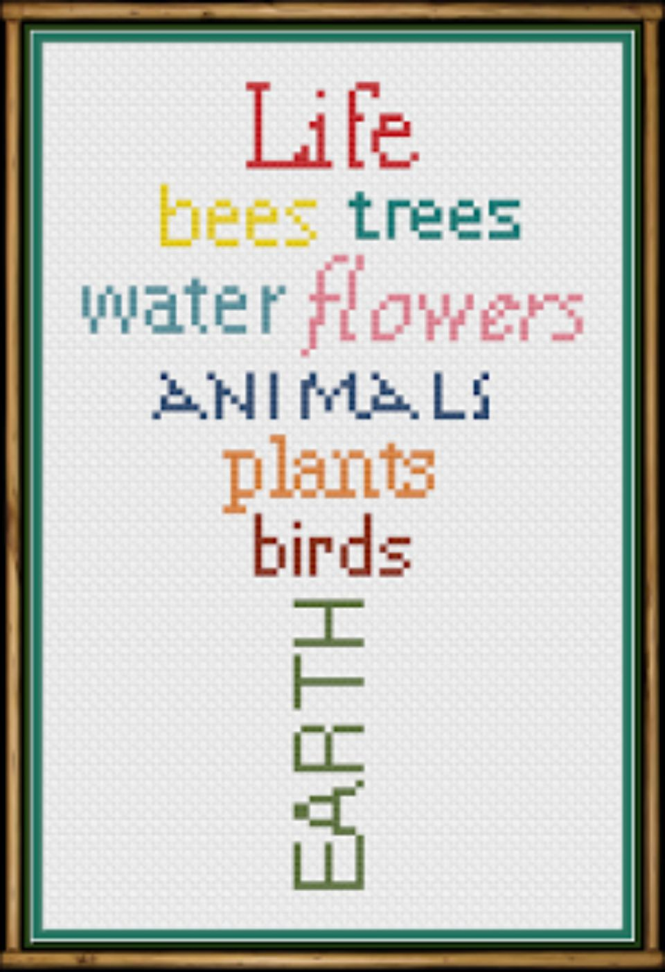 Cross Stitch Patterns To Celebrate Earth Day