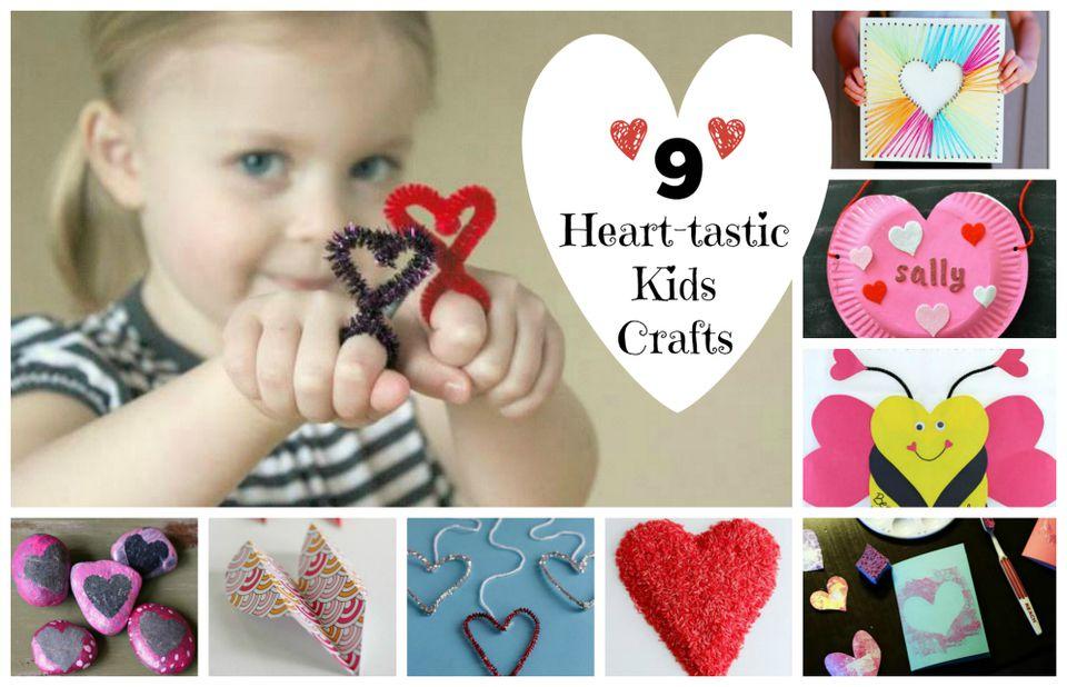 9 Heart Kids Crafts
