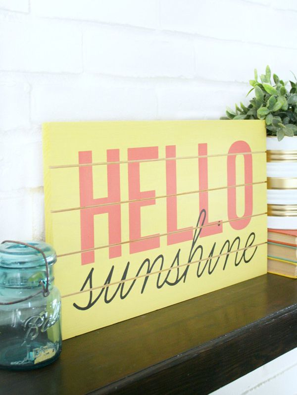 DIY Hello Sunshine Sign