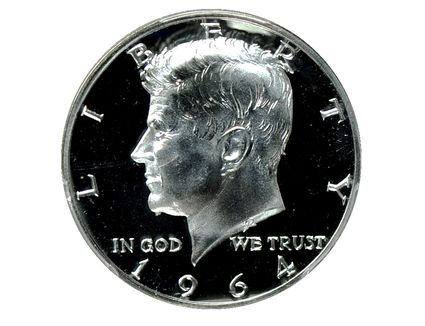 Cameo Contrast on a Proof 1964 Kennedy Half-Dollar