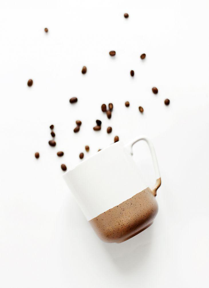DIY Speckled Dip Mug