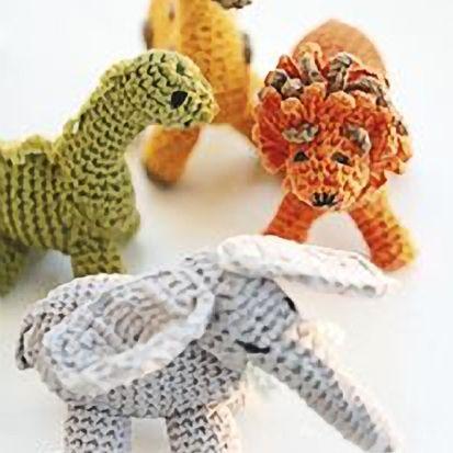 crocheted dinosaur