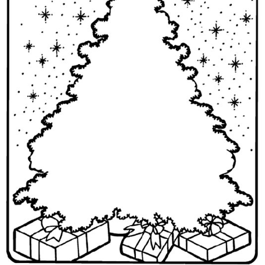 presents coloring pages a christmas tree with gifts underneath it