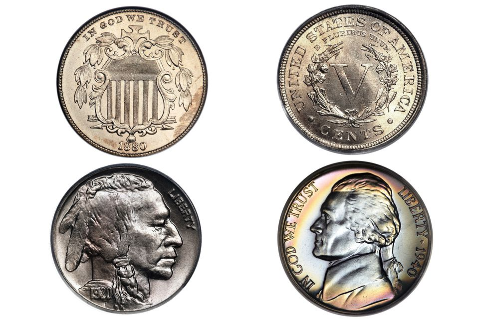 US nickel type coins