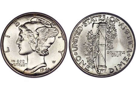 Mercury Dime Values Prices