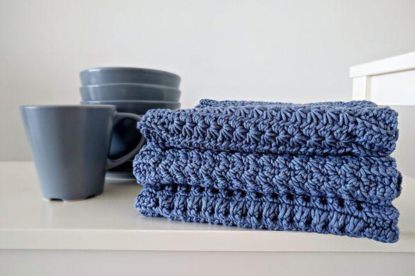 Kitchen Towel Crochet Pattern Set