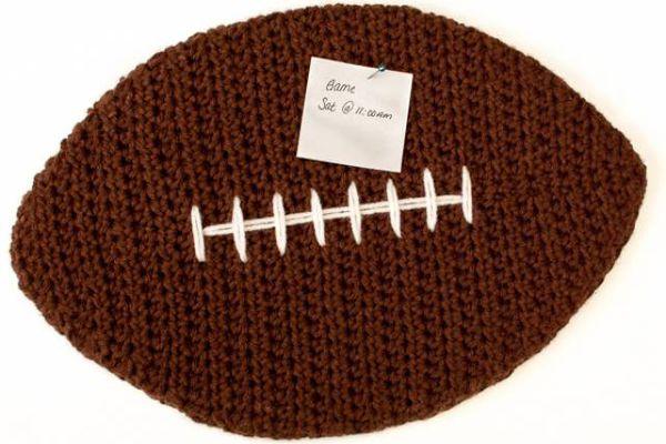 Crochet Football Cork Board Free Pattern