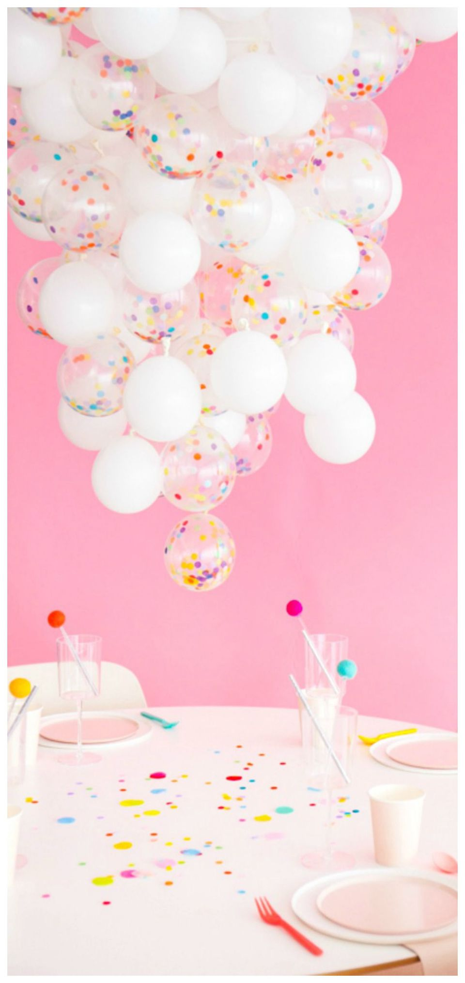 Confetti Balloon Chandelier