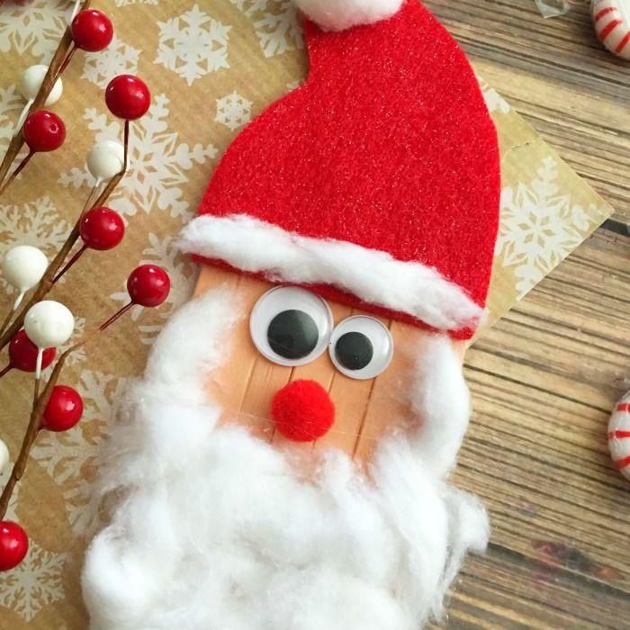 Craft Stick Santa