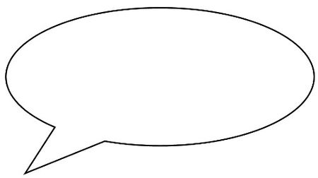 Free Scrapbook Speech Bubble Pattern 1