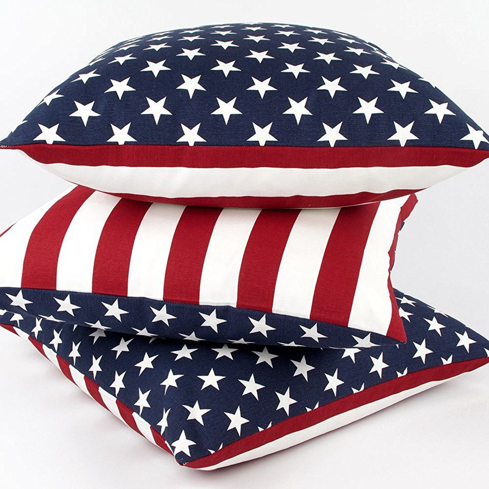 Pillows with a flag motif