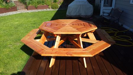 Free Picnic Table Plans In All Shapes And Sizes - Octagon shaped picnic table