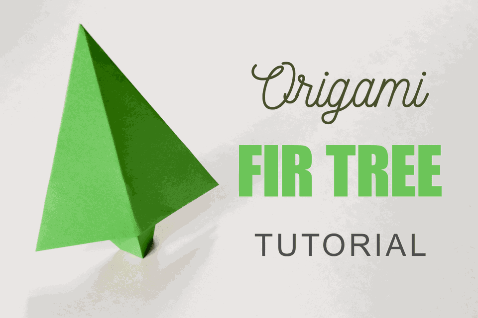 Easy Origami Fir Tree