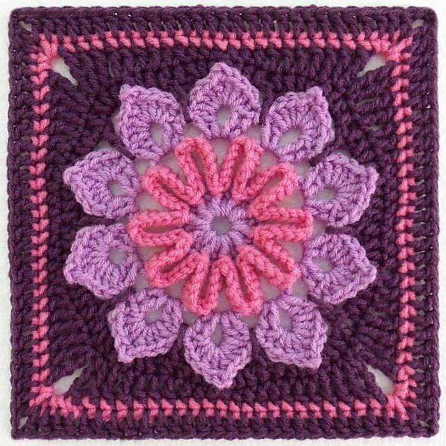Crochet Flower Square