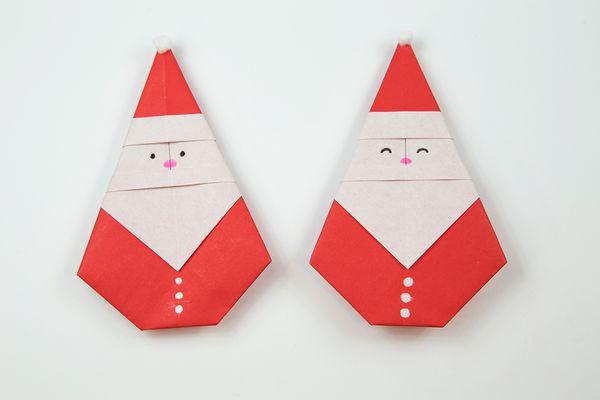 origami santa tutorial 01
