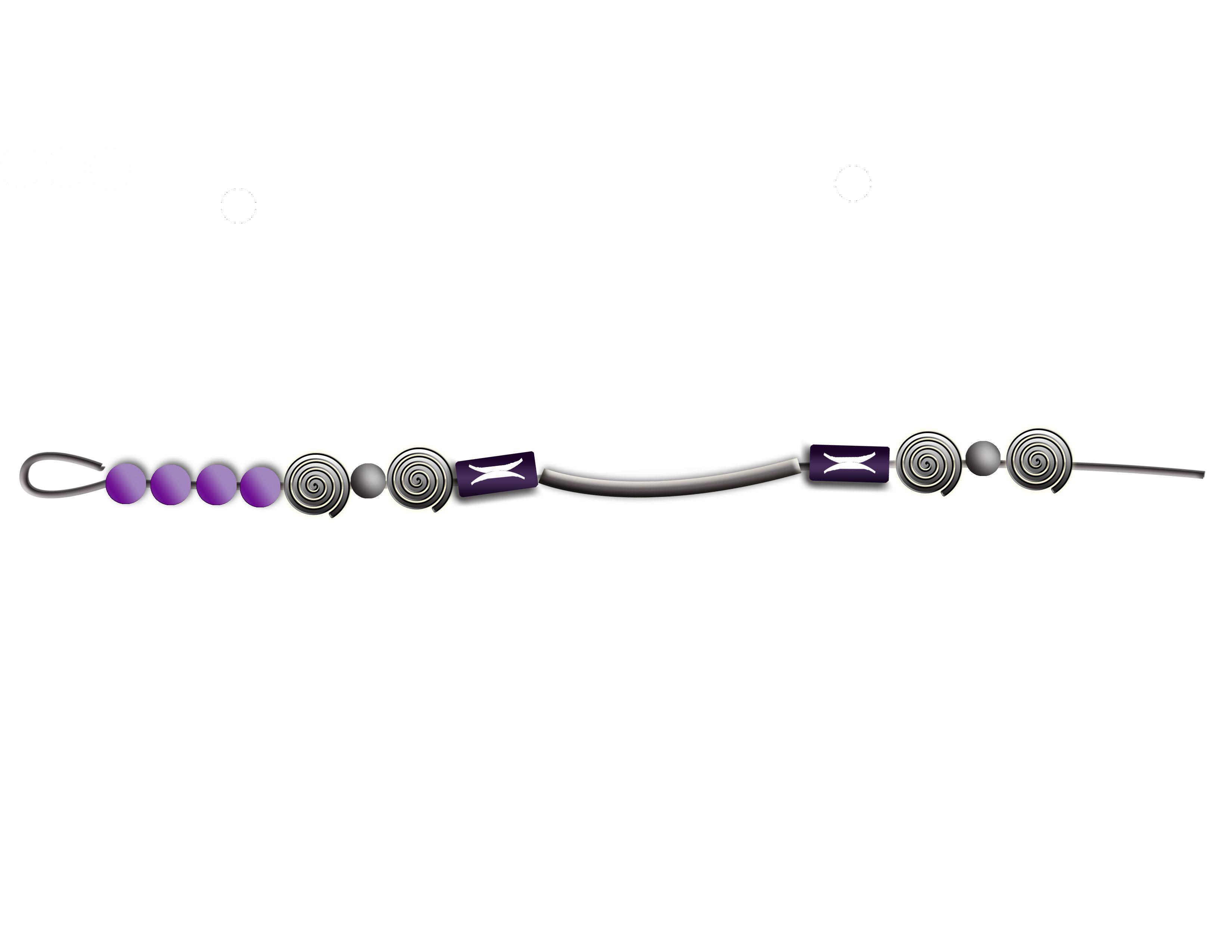 Boho Memory Wire Wrap Bracelet with a Paper Bead Twist