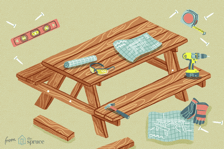 13 Free Picnic Table Plans In All, Wooden Outdoor Table Plans Free
