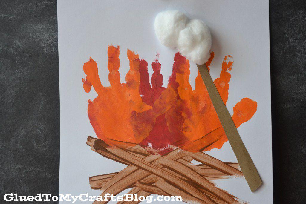 Campfire handprint