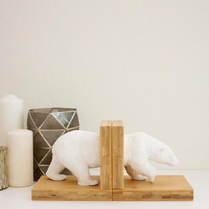 Faux Ceramic Animal Bookends