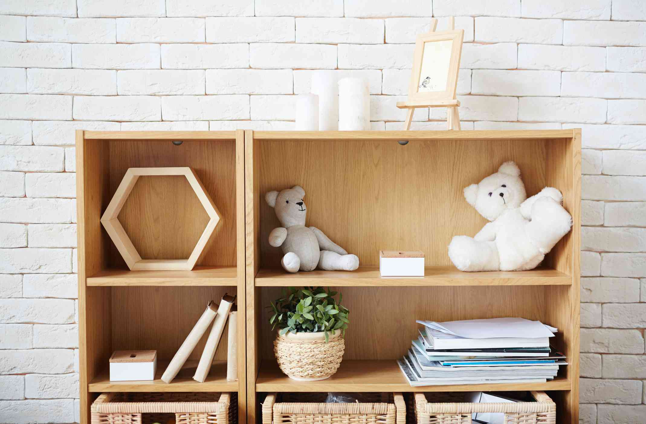 Shelf in room