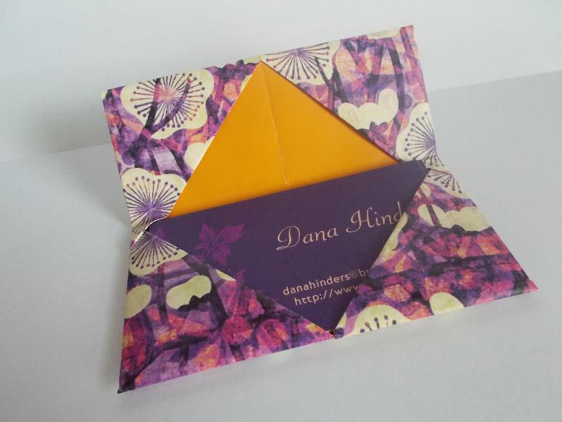 Origami business card holder complete your origami business card case origami business card holder colourmoves