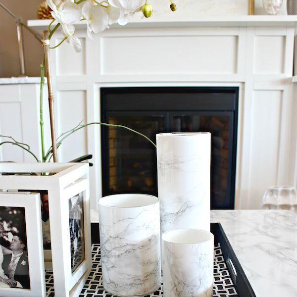 faux marble vase