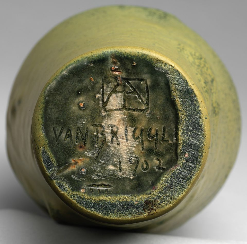 Incised Pottery Mark of the Lorelei Vase by Van Briggle Pottery