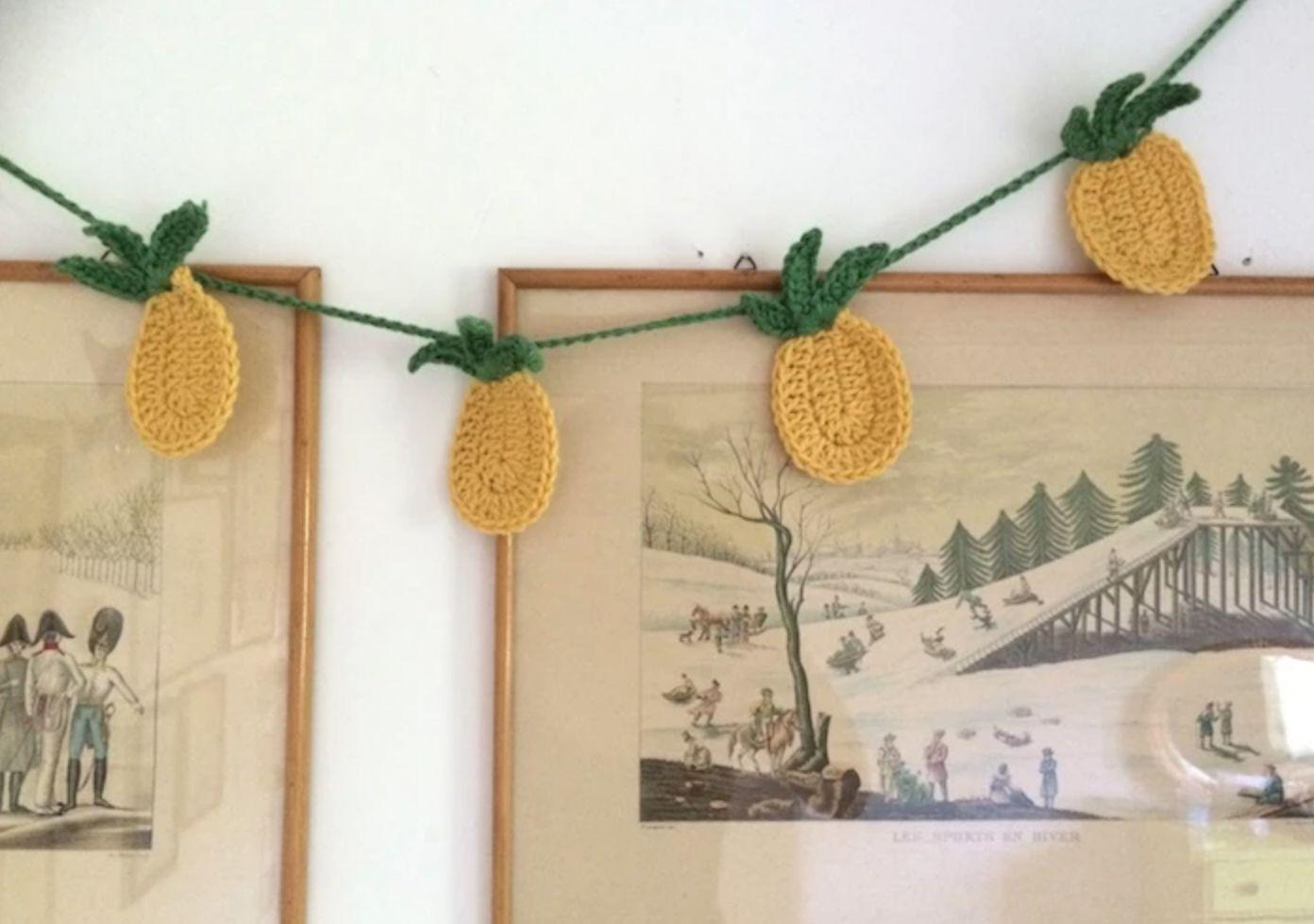 Crocheted Pineapple Garland