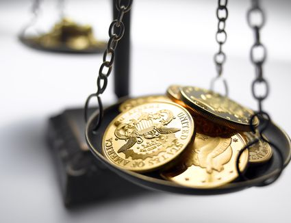 coins on a balance scale