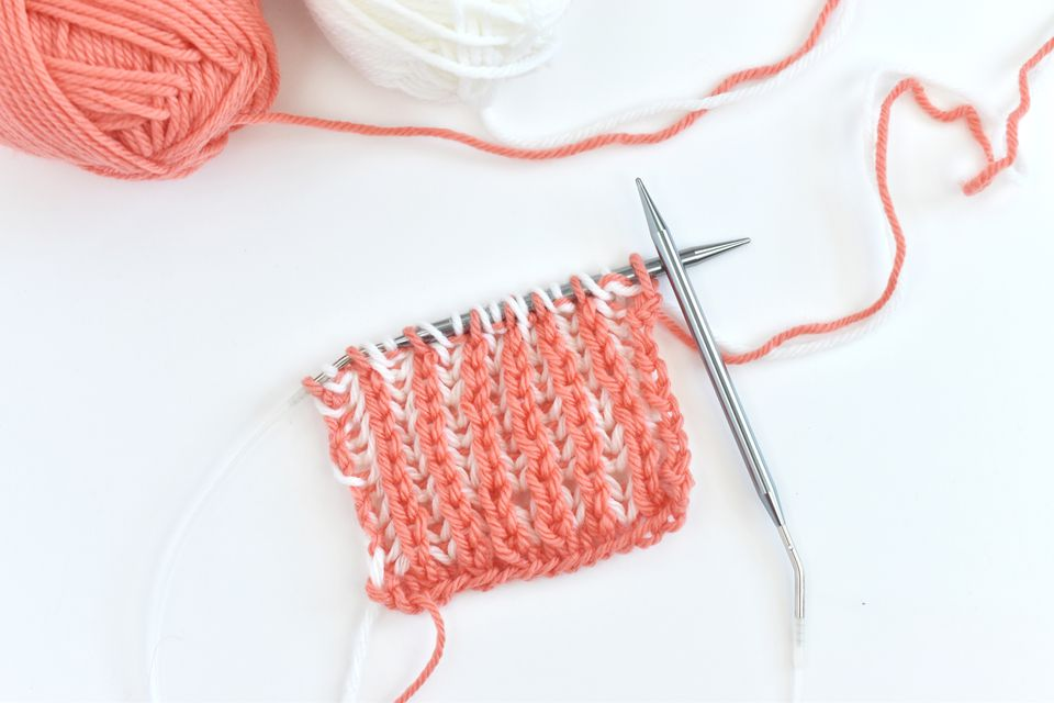 How to Work 2-Color Brioche Knitting