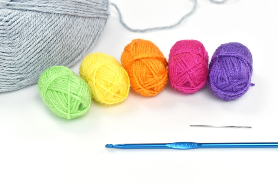 Supplies for Cross Stitching on Crochet