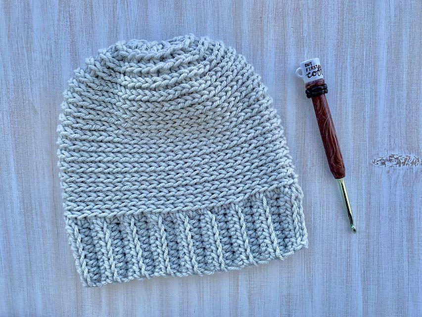 Knit-Like Crochet Beanie with Hook