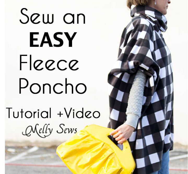 Melly Sews Cowl Fleece Poncho