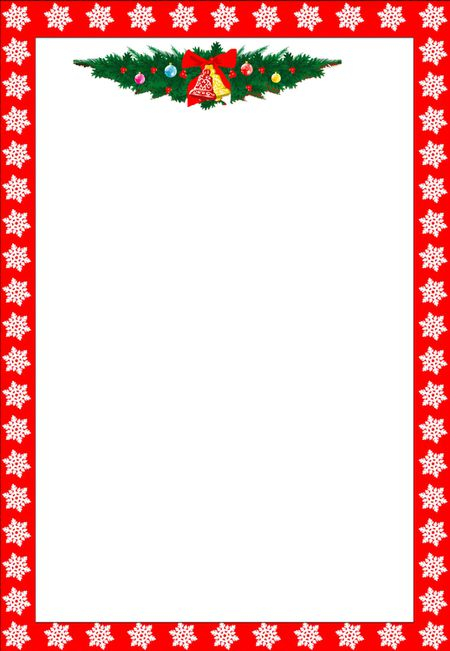 a christmas border with snowflakes and bells