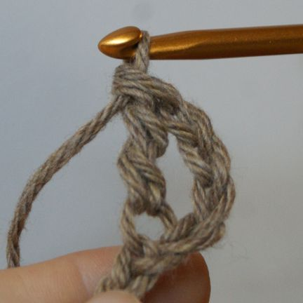 The Completed Treble Crochet Stitch