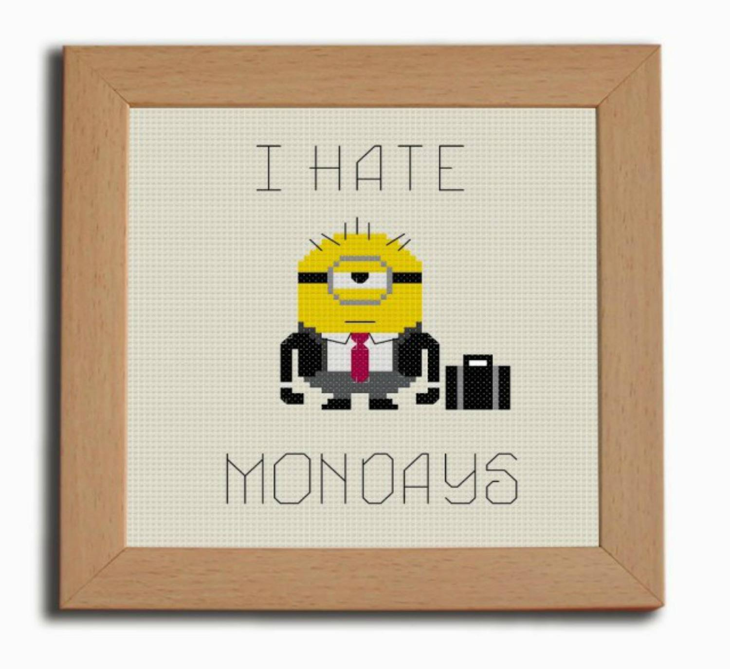 6 Work and Office Inspired Cross Stitch Patterns