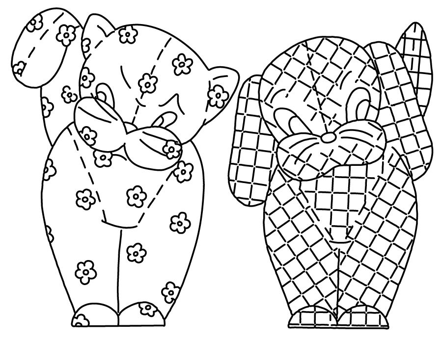 Kitschy Animals Hand Embroidery Pattern
