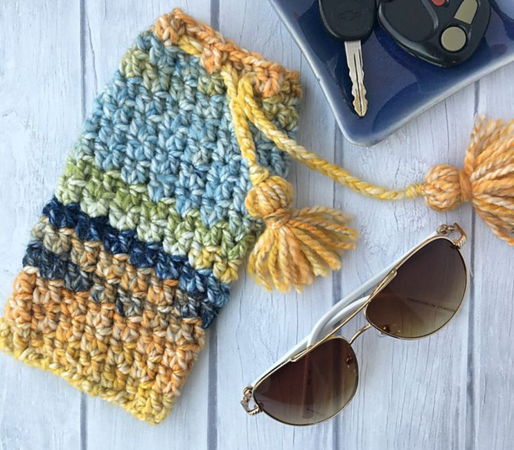 Crochet Sunglasses Pouch Free Pattern