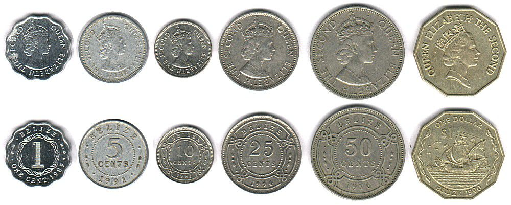 These coins are currently circulating in Belize as money.