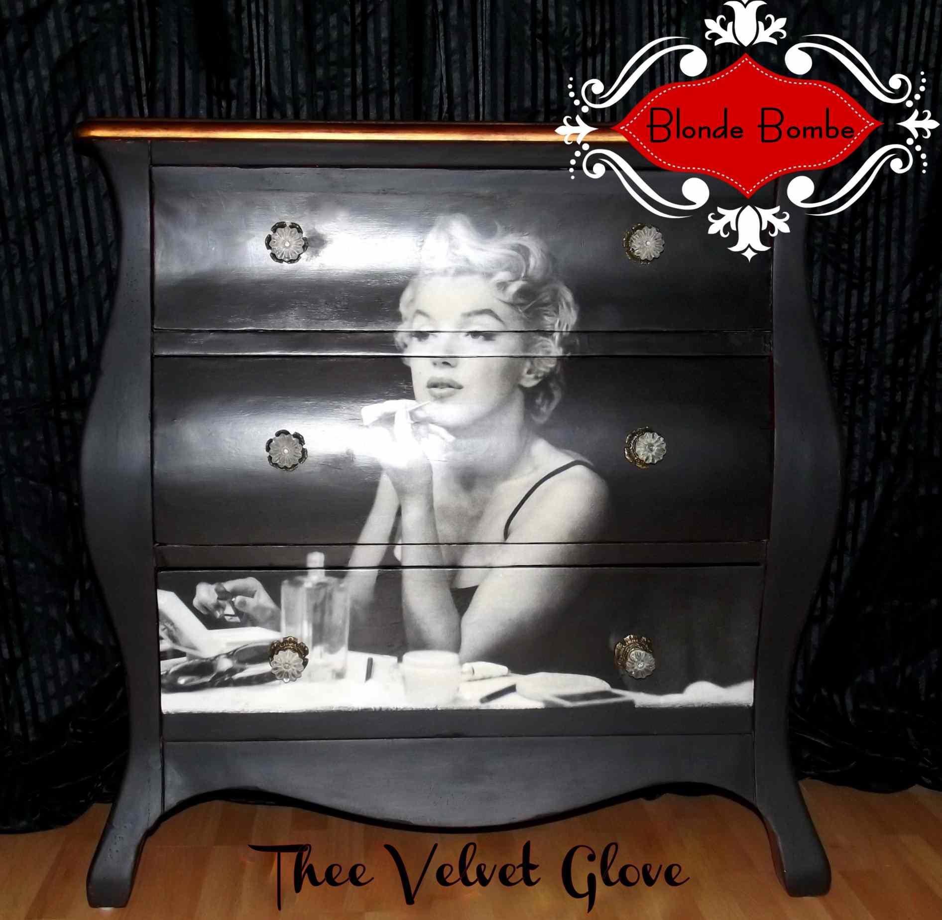 Marilyn Monroe Decoupage Dresser